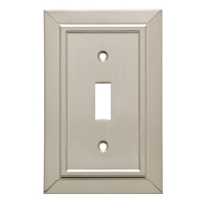 Franklin Brass Classic Architecture Single Switch Wall Plate Nickel