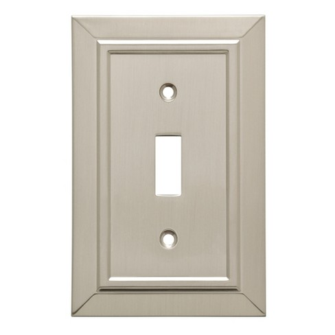 Classic Architecture Single Switch Wall Plate Satin Nickel