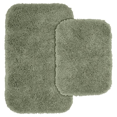 2pc Serendipity Shaggy Washable Nylon Bath Rug Set - Garland