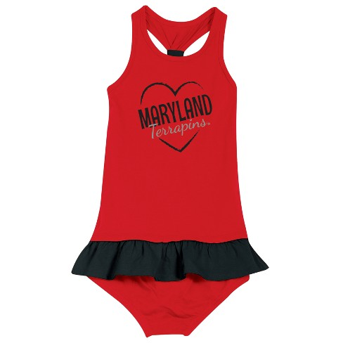 Maryland Terrapins After Her Heart Newborn/Infant Dress - image 1 of 2