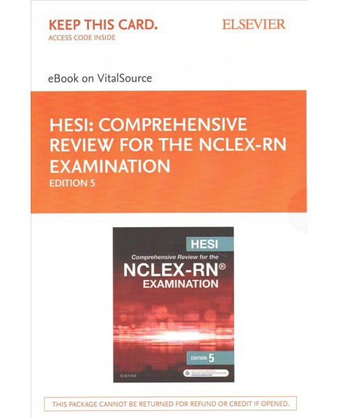 Hesi Comprehensive Review for the NCLEX-RN Examination eBook on VitalSource Access Code + Hesi - image 1 of 1