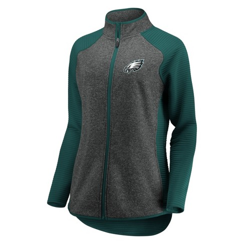 uk availability 3d4d1 6ae14 NFL Philadelphia Eagles Women's Draft Leader Zip-Up Fleece Sweatshirt - Gray