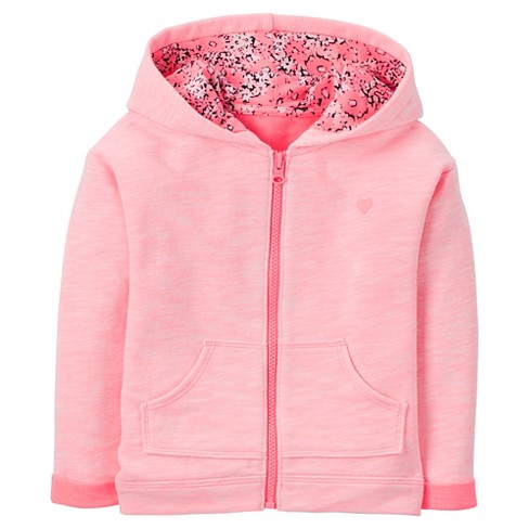 Toddler Girls' Liner Hooded Jacket - Just One You™ Made by Carter's® Pink Shadow 5T - image 1 of 1