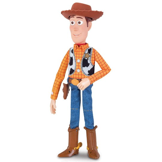 Disney Pixar Toy Story 4 Sheriff Woody with Interactive Drop-Down Action image number null