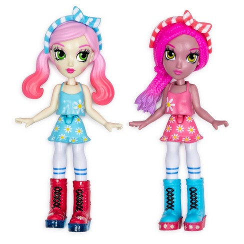 """Off The Hook Style BFFs Vivian and Jenni (Summer Vacay) 4"""" Small Dolls with Mix and Match Fashions and Accessories - image 1 of 4"""