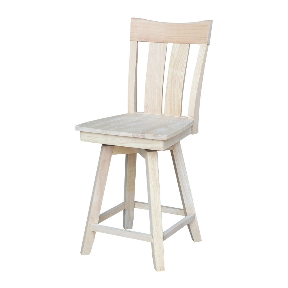 Ava 24 Counter height Stool - Unfinished - International Concepts, Wood