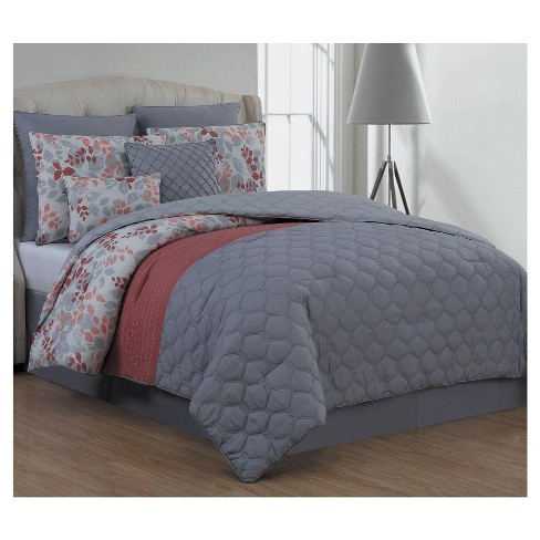Coral Alice Comforter Set 8pc - image 1 of 1