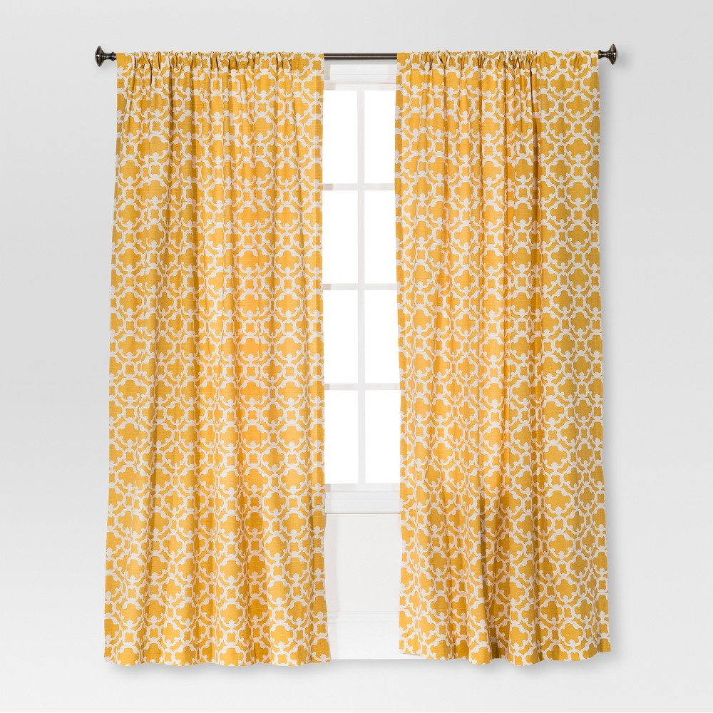 Farrah Fretwork Curtain Panel Sun Eclipse (54