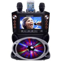 Karaoke USA Complete Bluetooth Karaoke System with LED Sync Lights (GF846)