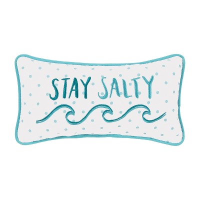 C&F Home 6'' x 12'' Stay Salty Embroidered Petite Pillow