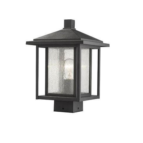 "Z-Lite 554PHMS Aspen Single Light 13-1/4"" Tall Outdoor Single Head Post Light - image 1 of 1"