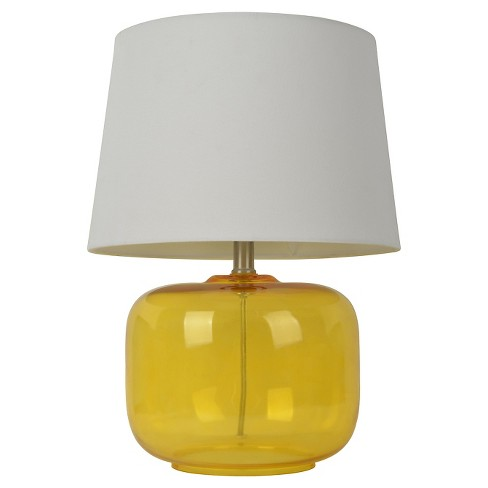 Glass Table Lamp Yellow Includes Cfl Bulb Pillowfort Target