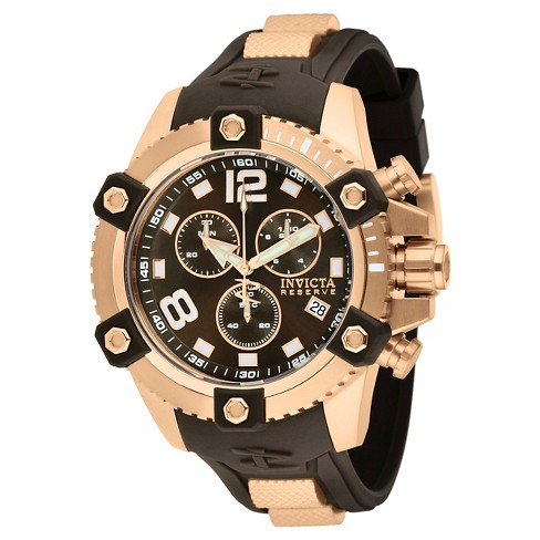 Men's Invicta 11174 Reserve Quartz Chronograph Brown Dial Strap Watch - Brown - image 1 of 1