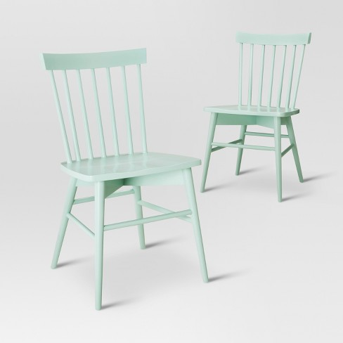 Windsor Dining Chair Mint Set Of 2 Threshold