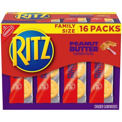 Ritz Peanut Butter Cracker Sandwiches - Family Size - 16ct/1.38oz