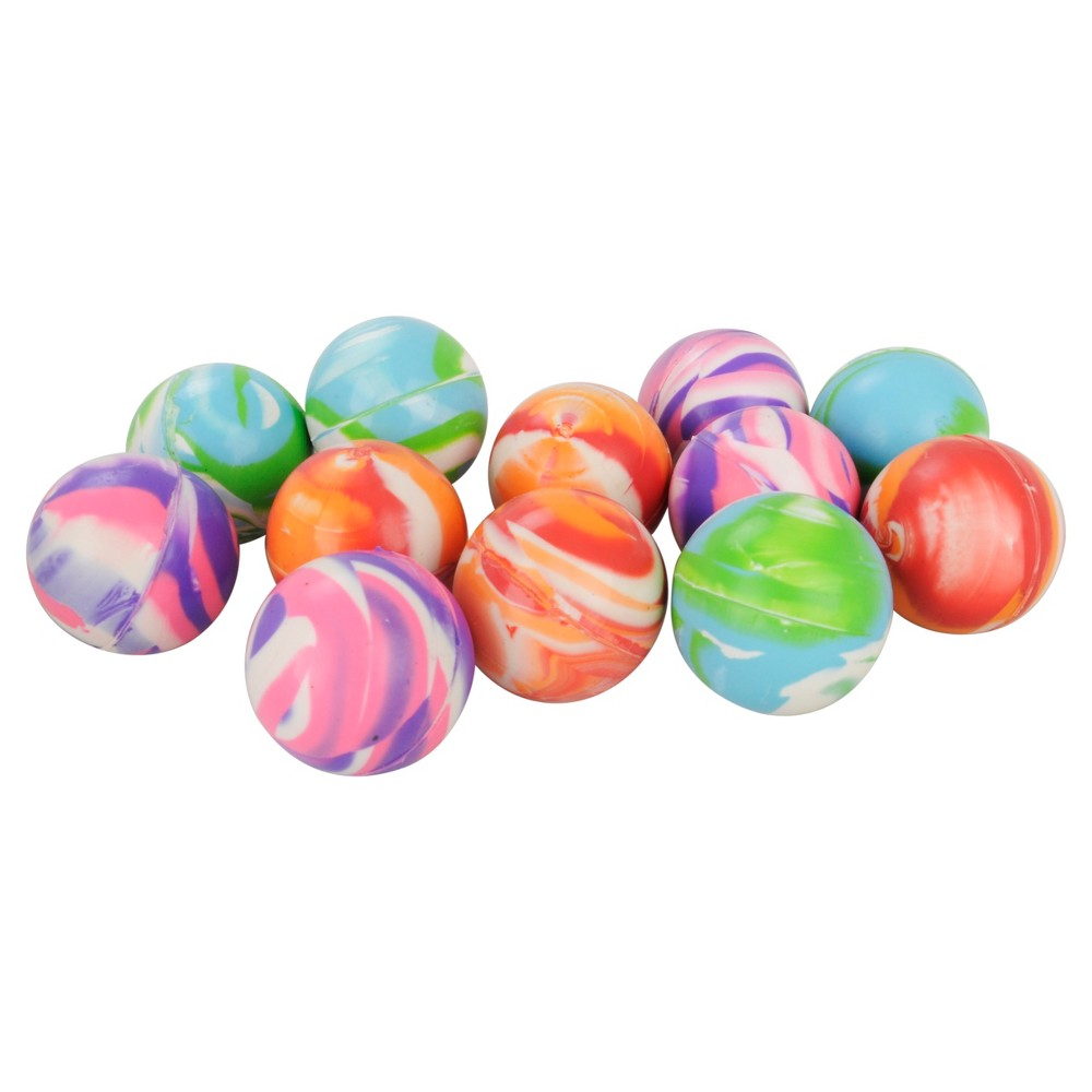 Image of 12ct Marbled Bouncey Ball - Spritz