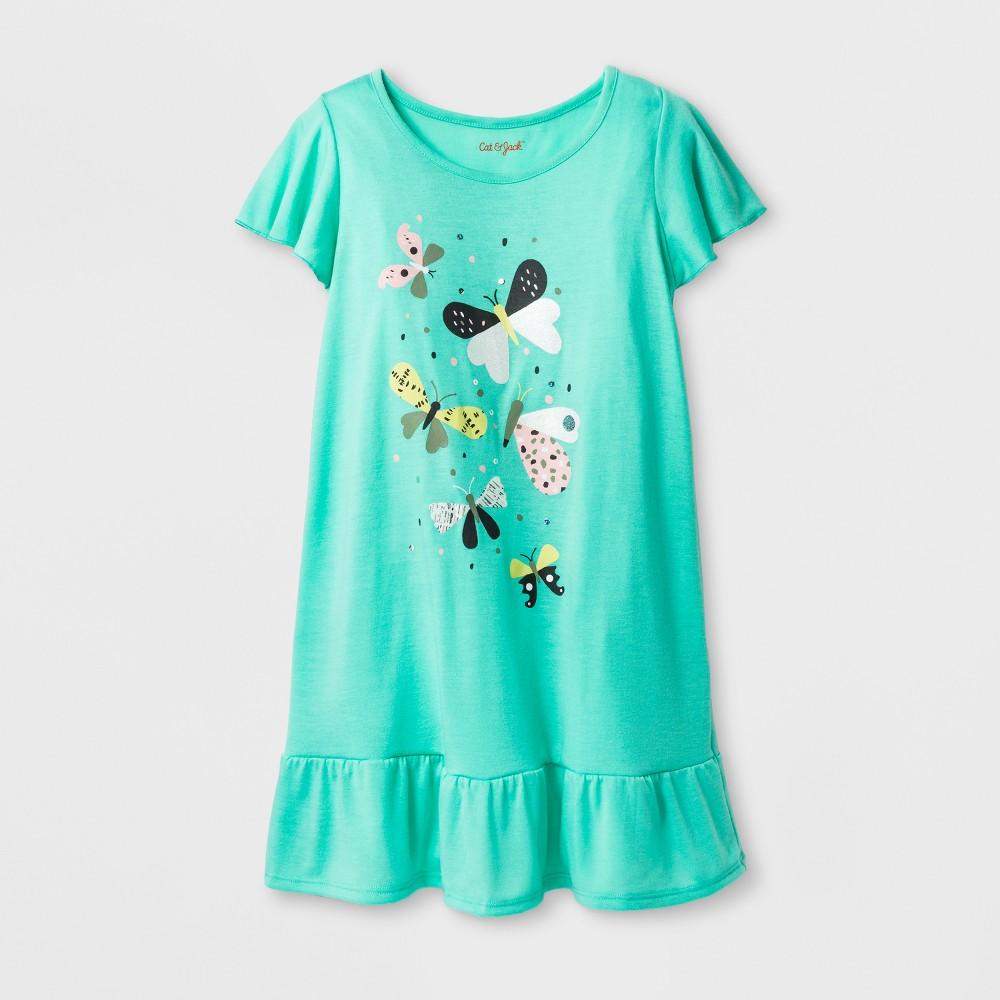 Girls' Butterflies Printed Nightgown - Cat & Jack Green L