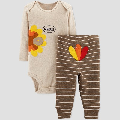 Babys' Thanksgiving 2pc Gobble Set - Just One You® made by carter's Light Brown 6M