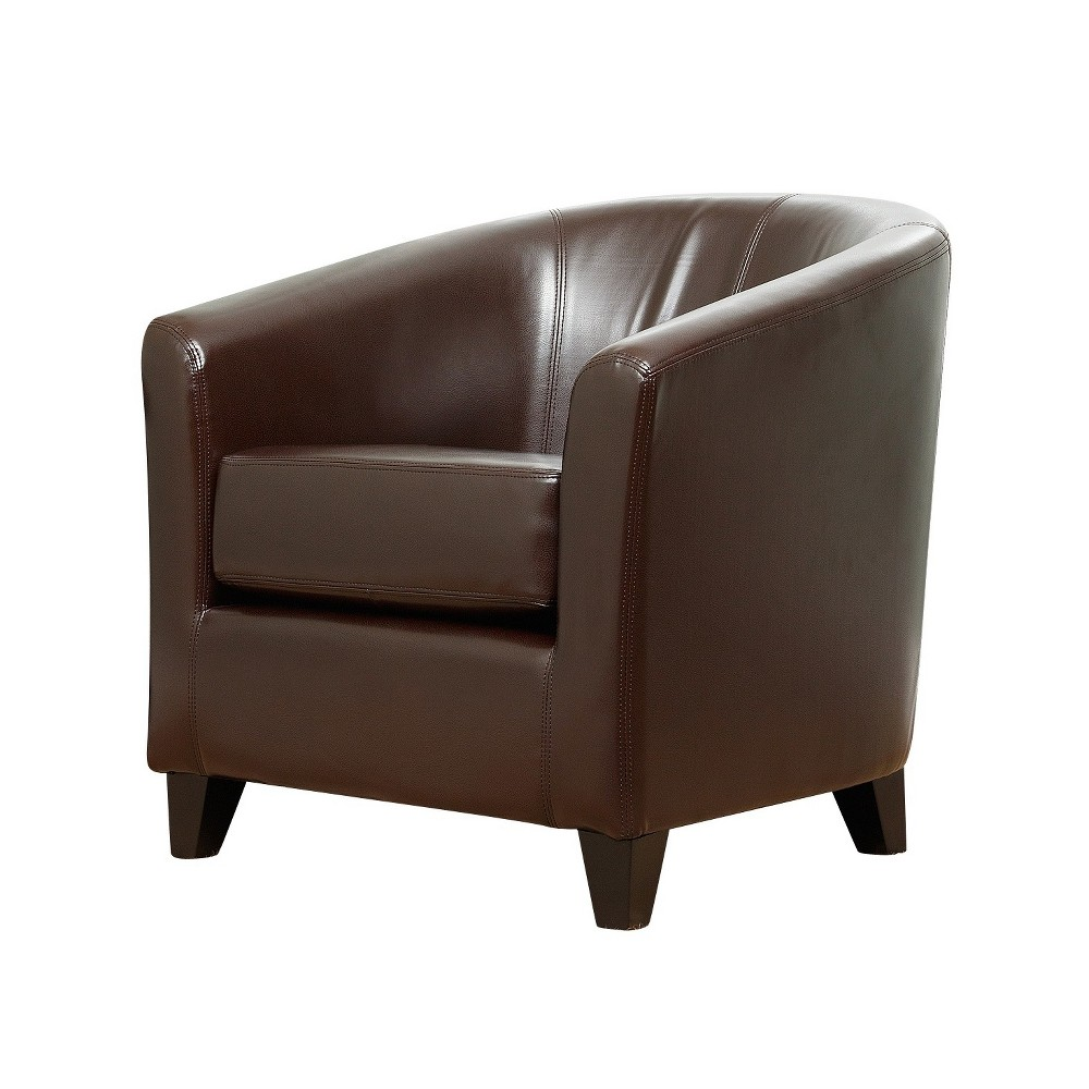 Bentley Leather Armchair Brown Abbyson Living