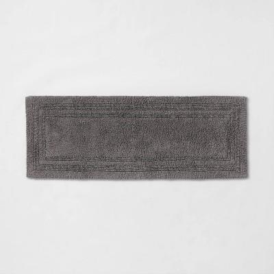 "22""x60"" Performance Cotton Reversible Bath Runner Dark Gray - Threshold™"