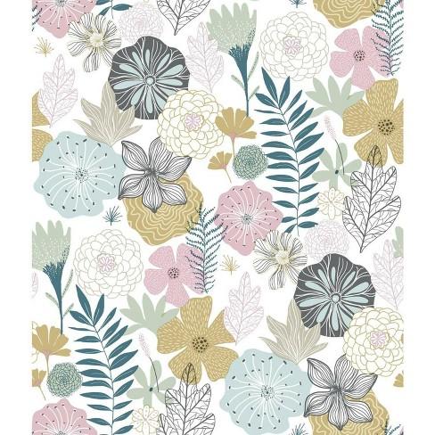 RoomMates Perennial Blooms Peel & Stick Wallpaper - image 1 of 4