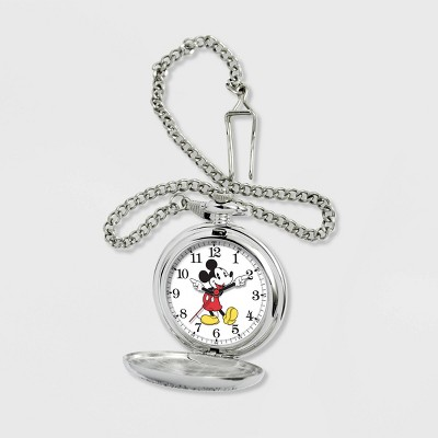 Men's Disney Mickey Mouse Pocket Chain Watch - Silver