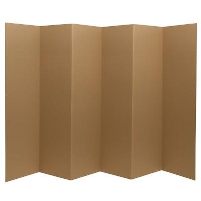 "6"" Cardboard Room Divider 6 Panel - Oriental Furniture"