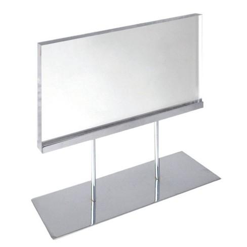 Azar Displays 11'' X 8.5'' The Elite Series: Medium Acrylic Block Sign Holder On Chrome Stand - image 1 of 1