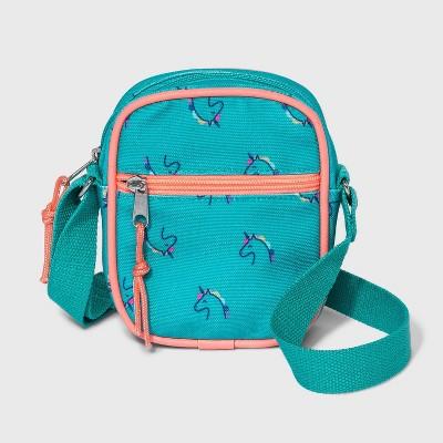 Girls' Unicorn Print Crossbody Bag - Cat & Jack™ Blue