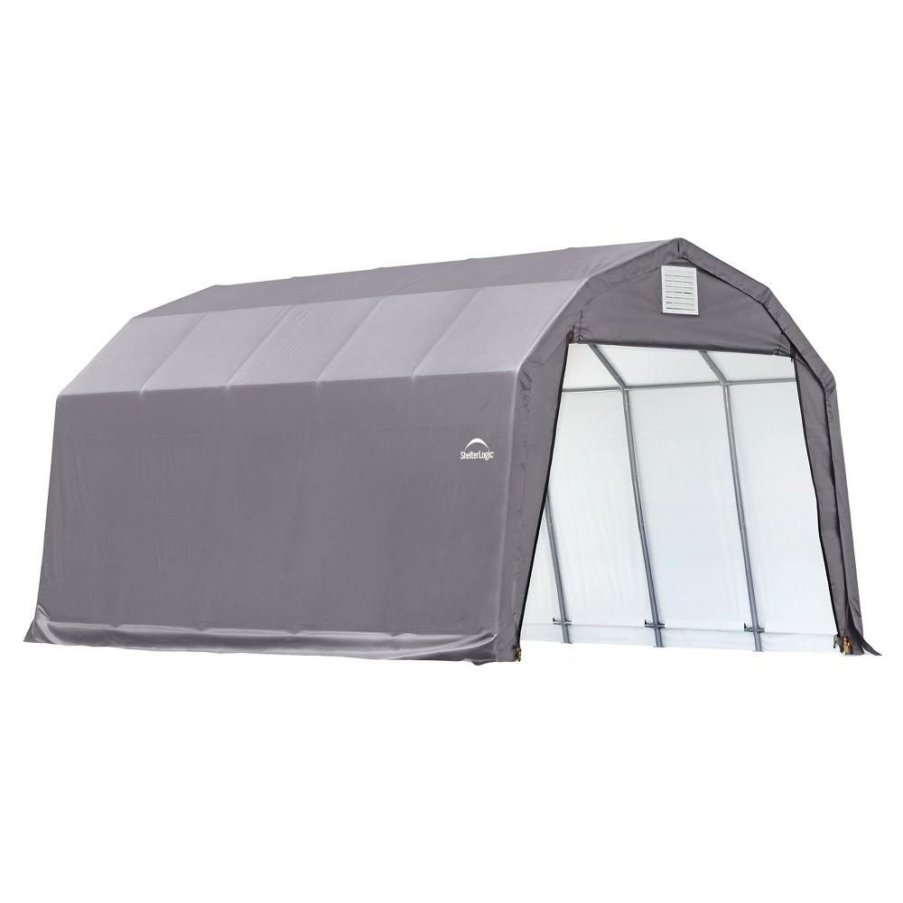 12' X 28' X 11' Barn Style Shelter- Gray - Shelterlogic