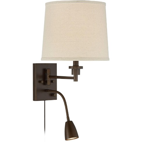 Possini Euro Design Salem Plug-In Swing Arm with Adjustable Reading Light - image 1 of 4