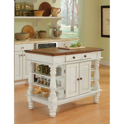 Americana Kitchen Island Antique White - Home Styles