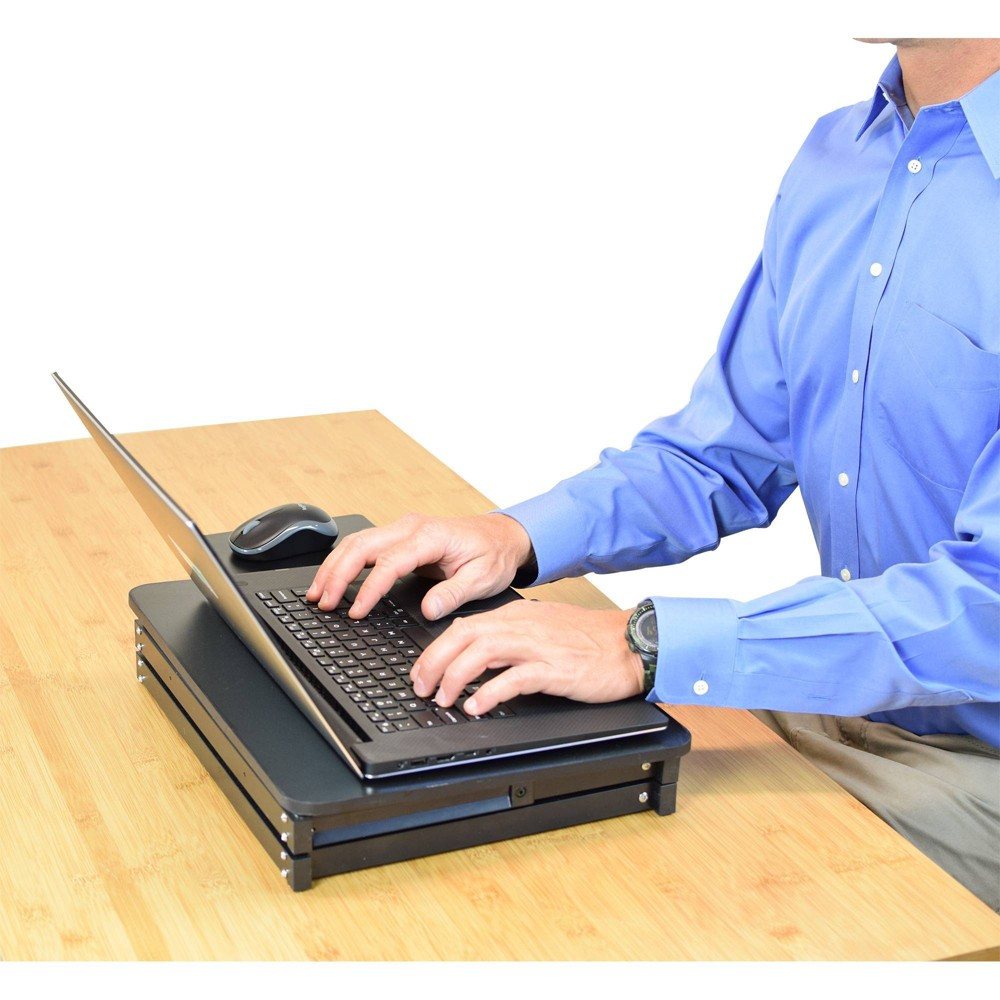 Image of Laptop Stand & Standing Desk Black - Uncaged Ergonomics