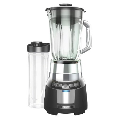 BLACK+DECKER Digital Blender with 6 Cup Glass Jar and 20oz Personal Blender Jar - Black BL1820SG-P