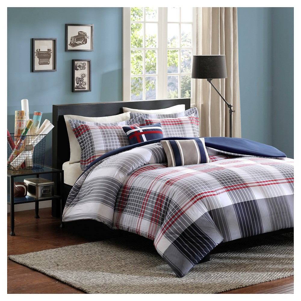 Carson Duvet Cover Set (Twin/Twin Extra Long) 4pc - Blue