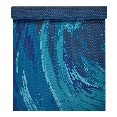 Gaiam Printed Yoga Mat - Dark Blue (4mm)