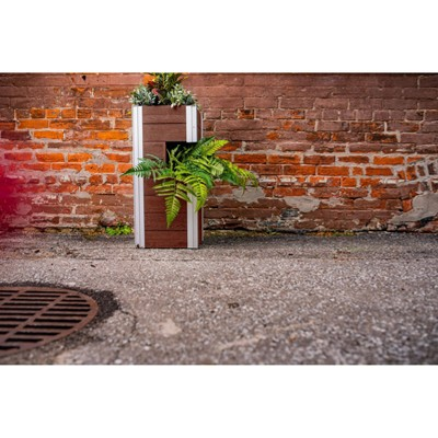 Urbana Pillar Rectangular Planter - New England Arbors