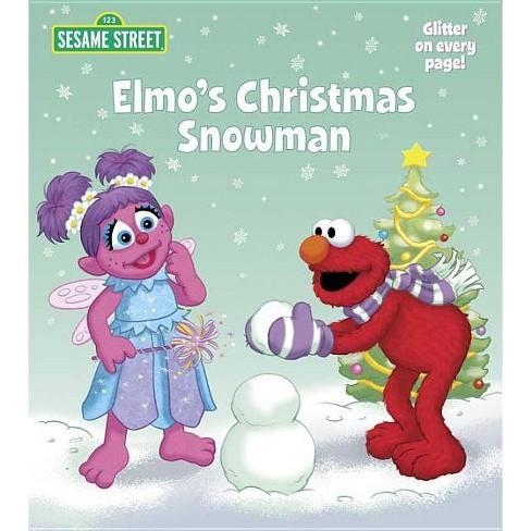 Elmo's Christmas Snowman - (Sesame Street (Random House)) by  Naomi Kleinberg (Board_book) - image 1 of 1