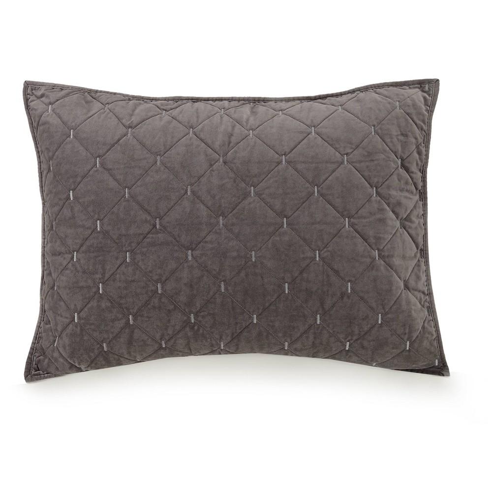 Image of Standard Cotton Velvet Sham Gray - Ayesha Curry