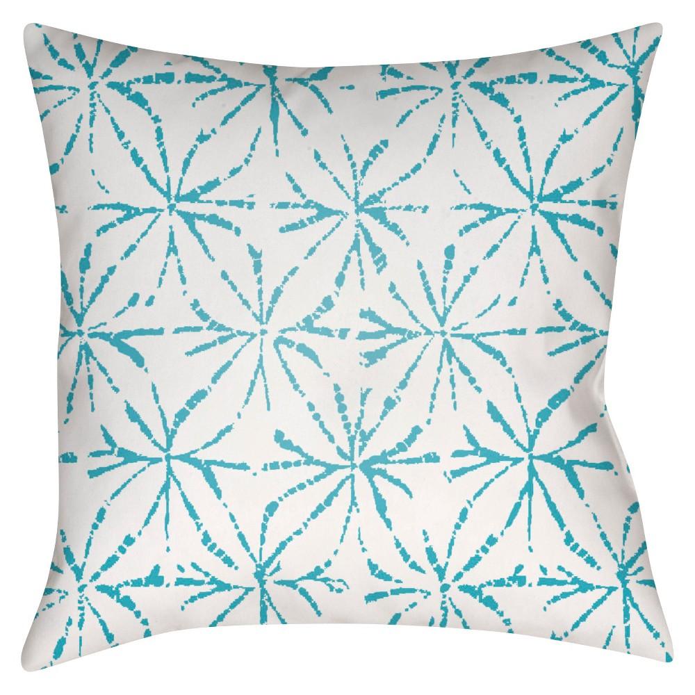 Teal (Blue) Pelotas Stars Throw Pillow 18