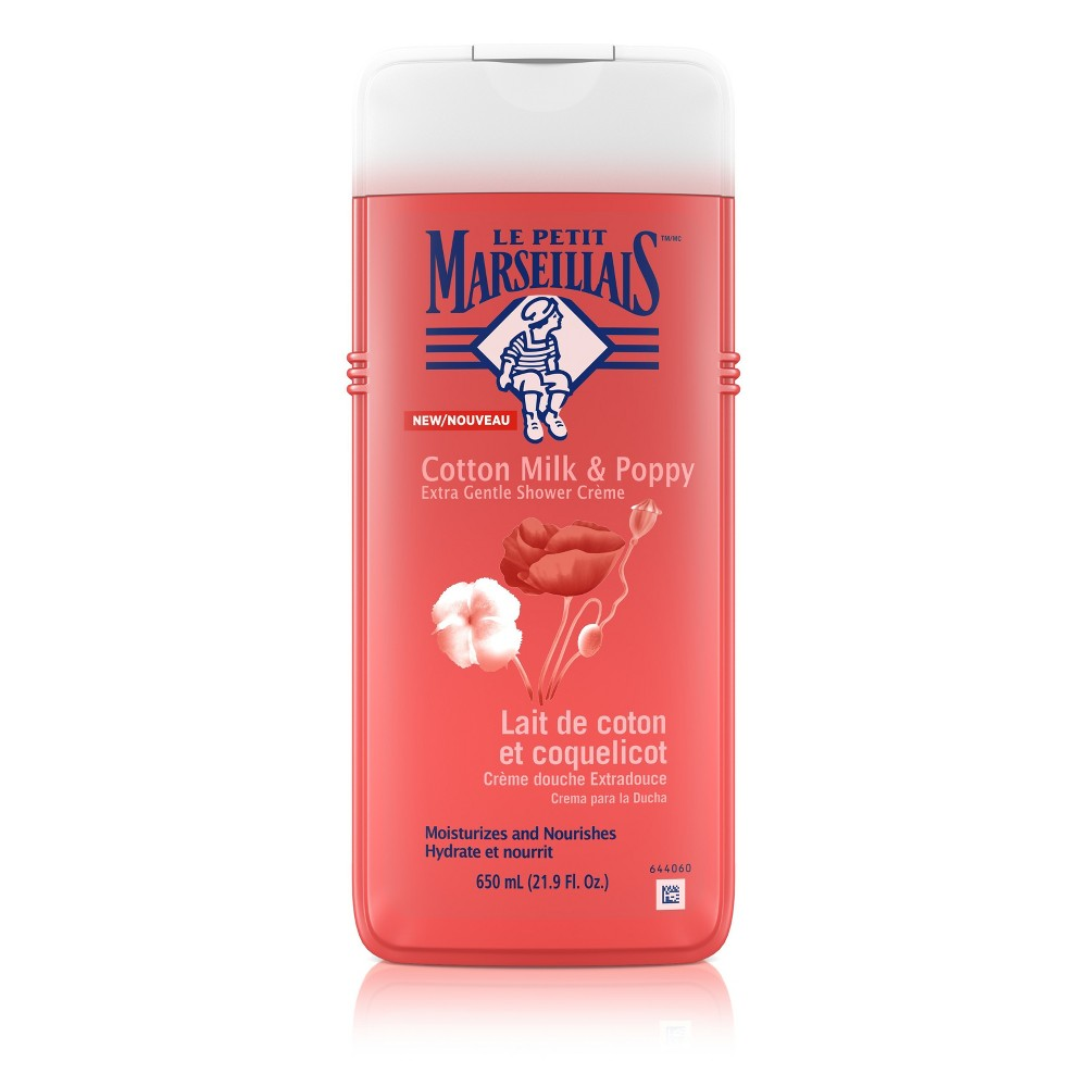 Le Petit Marseillais Extra Gentle Shower Cream Cotton Milk & Poppy Body Wash - 22oz