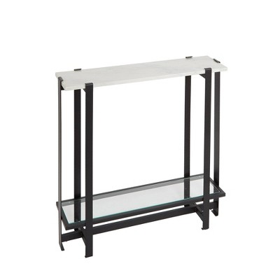 Slim Console Table Marble/Black   Silverwood