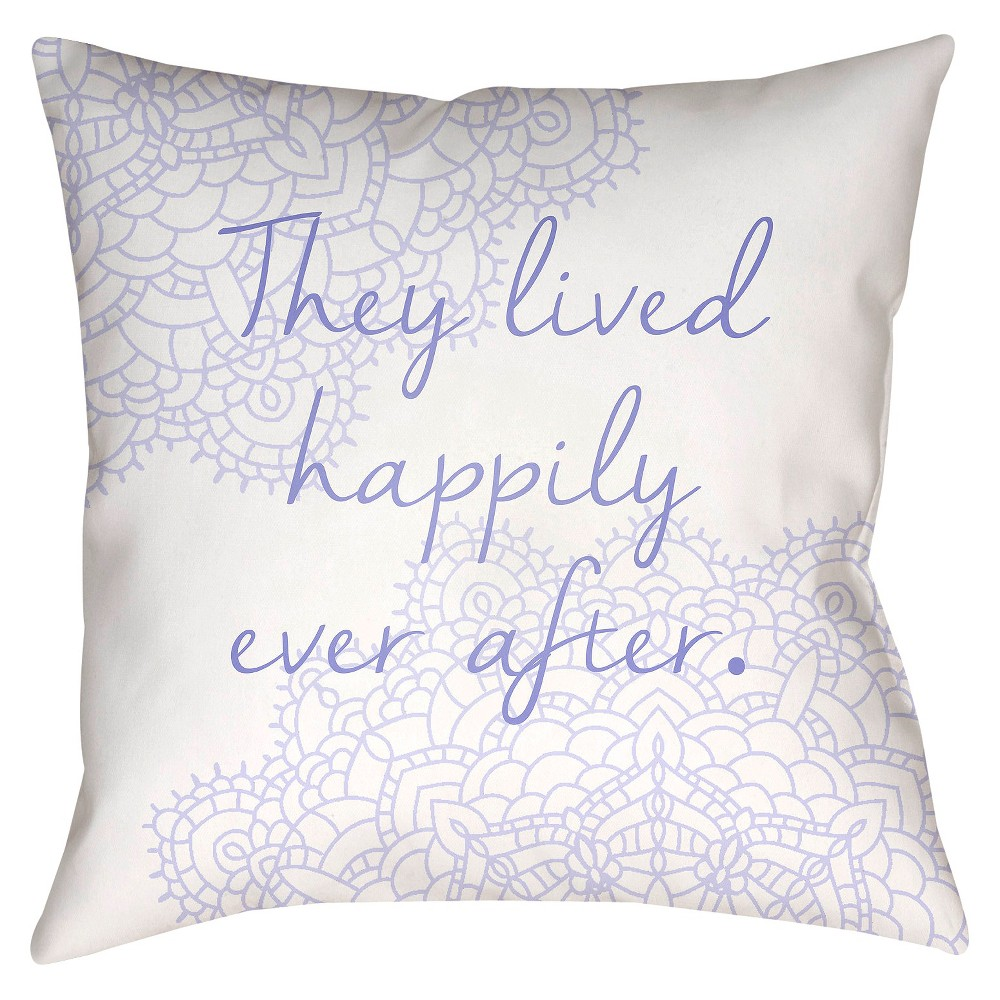 Violet (Purple) Storytime Throw Pillow 20