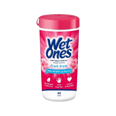 Wet Ones Antibacterial Hand Wipes Canister - Fresh Scent - 40ct