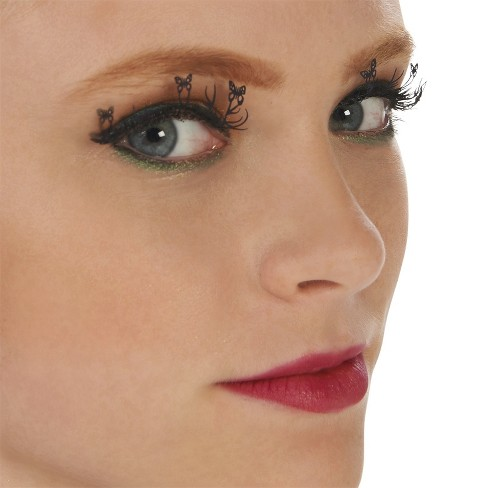Pretty Butterfly Eyelashes Black - One Size Fits Most - image 1 of 5