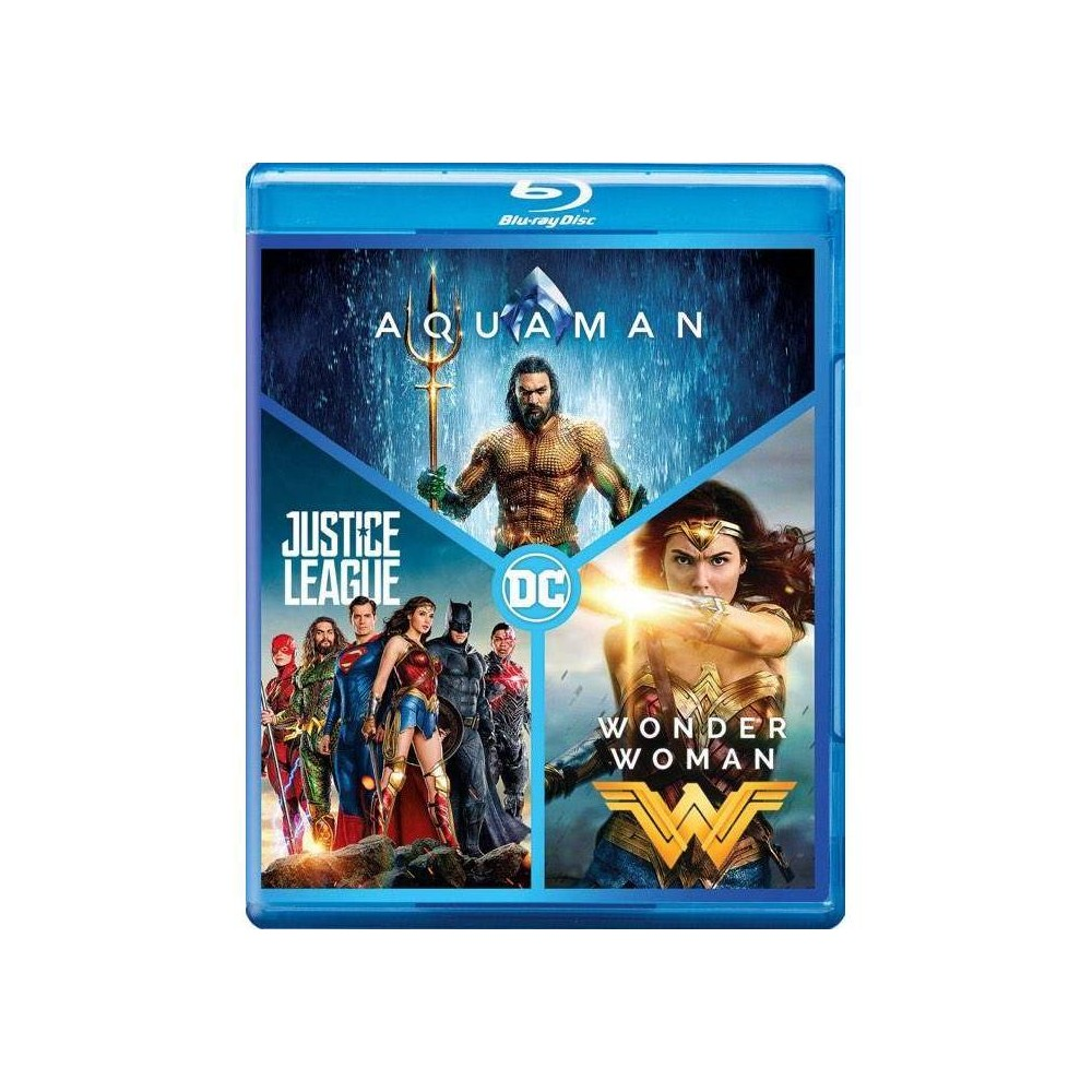 Dc 3-film Collection: Aquaman / Justice League / Wonder Woman (Blu-ray)