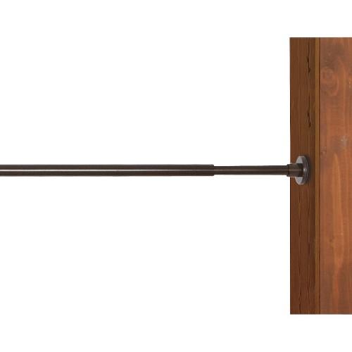 'Versailles Indoor/Outdoor Stainless Steel Duo Tension Rod - Espresso (66x120''), Size: 66-120'', Brown'