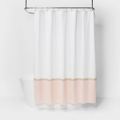 Colorblock Woven Shower Curtain Light Gold - Project 62™