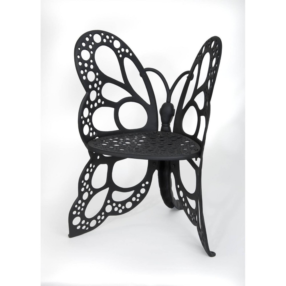 Image of Butterfly Patio Chair - Black - FlowerHouse