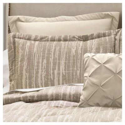 Gray Rustic Stripe Comforter Set (Full/Queen)6pc - Lush Decor®